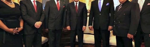 Presidente Medina Acroarte y artistas internacionales