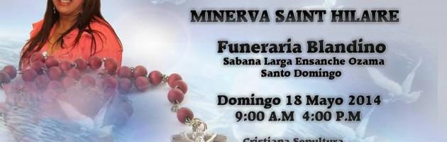 Velatorio y entierro en RD de la Periodista Minerva Saint Hilaire