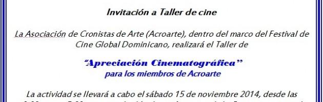 Taller de cine para miembros de Acroarte